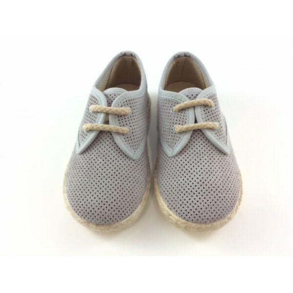 Zapato tipo blucher de serraje