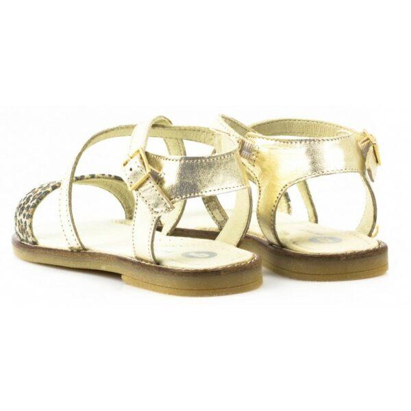 Sandalia cruzada dorada