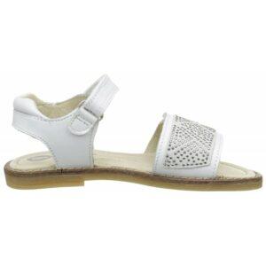 Sandalia adorno strass con velcro