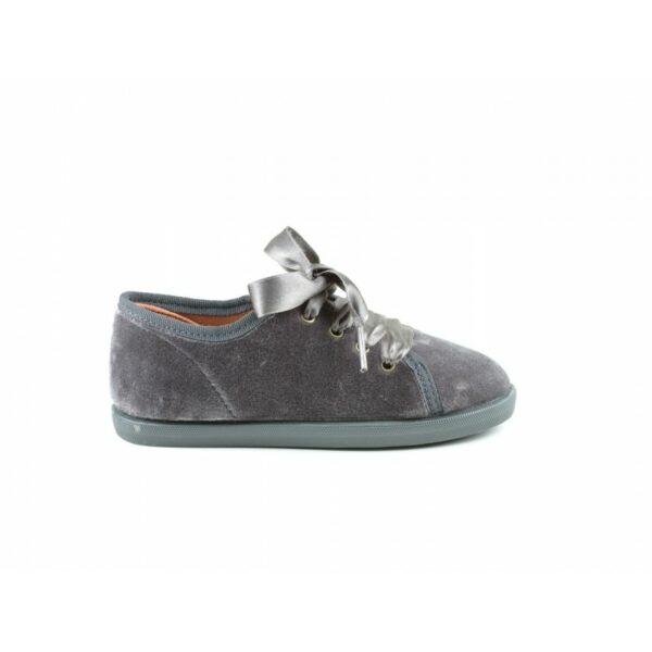 Zapato terciopelo lazo de raso