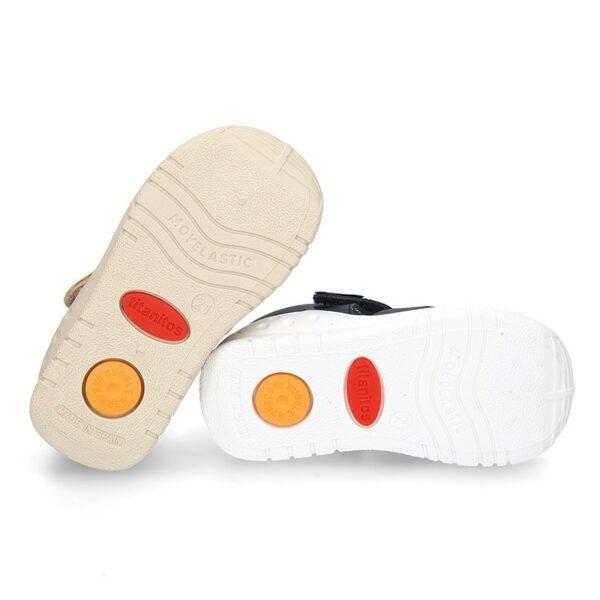 Sandalia puntera y talonera piel lavable