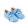 zapato inglesito azul con cordnes