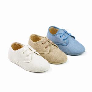 zapato cordones de lino