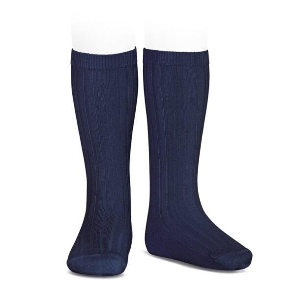 calcetín alto canalé marino condor
